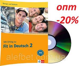 Немецкий язык / Подготовка к экзамену: Mit Erfolg  zu Fit in Deutsch, Übungs+Testbuch+CD, A2 / Klett