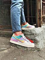 "Кеды Nike Air Force One Shadow ""Tropical Twist"" женские цветные"
