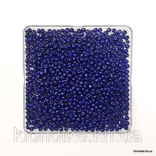 Бисер Крупный (6/0), Глянцевый, Некалиброванный, Цвет: Синий (50 грамм)