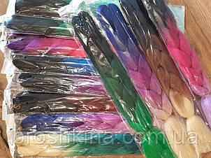 Канекалон трехцветный 60 см 12 шт/уп. цвета микс без выбора