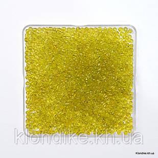 Бисер Крупный (6/0), Прозрачный, Некалиброванный, Цвет: Желто-зеленый (50 грамм)