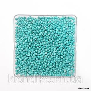 Бисер Крупный (6/0), Глянцевый, Некалиброванный, Цвет: Бирюзовый (50 грамм)