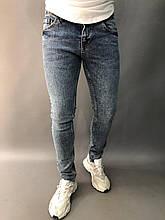 Мужские зауженные джинсы. Фото сделано в живую. (Замеры в описании)