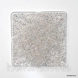 Бисер Крупный (6/0), Прозрачный, Некалиброванный, Цвет: Бесцветный королевский (50 грамм)