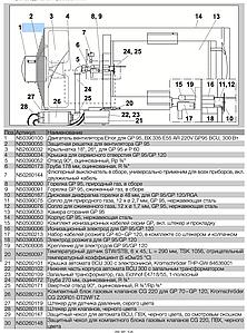 Горелка для Jet Master Gp 95 /  Ermaf GP95