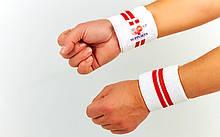 Бинты кистевые для жима (2шт) MATSA MA-0029 (хлопок, эластан,р-р регулир, белый-синий, белый-красный)