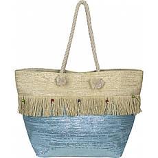Сумка женская пляжная солома №VT8198532 Голубой
