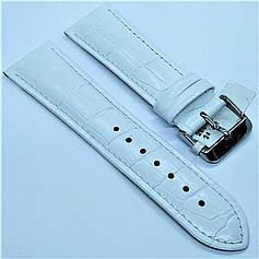 Ремінець з натуральної шкіри CONDOR 285.24.09 (24 мм) білий шкіряний ремінець на годинник ремінець для