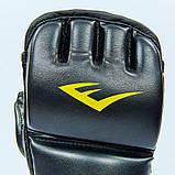 Перчатки для смешанных единоборств MMA PU EVERLAST HEVY BAG 4301SM (р-р S-M, черный-серый), фото 6
