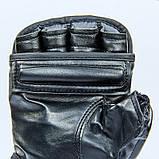 Перчатки для смешанных единоборств MMA PU EVERLAST HEVY BAG 4301SM (р-р S-M, черный-серый), фото 7