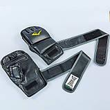 Перчатки для смешанных единоборств MMA PU EVERLAST HEVY BAG 4301SM (р-р S-M, черный-серый), фото 9