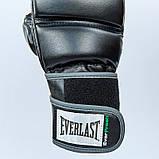 Перчатки для смешанных единоборств MMA PU EVERLAST HEVY BAG 4301SM (р-р S-M, черный-серый), фото 10