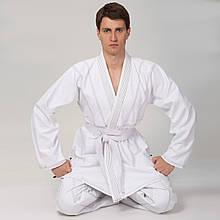 Кимоно для джиу джитсу белое VELO VL-6649 (350г/м2, пояс в комплект не входит)