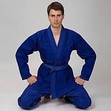Кимоно для джиу джитсу синее VELO VL-6651 (350г/м2, пояс в комплект не входит)