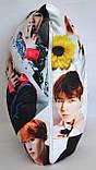 """Подушка  k-pop 40х40 см із змінною наволочкой """"BTS"""", фото 4"""