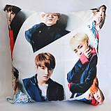 """Подушка  k-pop 40х40 см із змінною наволочкой """"BTS"""", фото 3"""