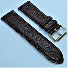 Ремінець з натуральної шкіри CONDOR 516.24.02 (24 мм) коричневий шкіряний ремінець на годинник ремінець для