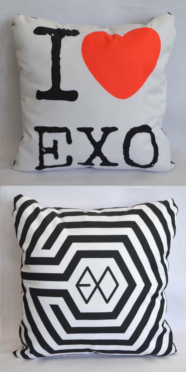 """Подушка k-pop 40х40 см із змінною наволочкой """"EXO"""""""