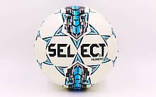 Мяч футбольный №4 PU ламин. ST NUMERO 10 ST-ST-8258 белый-синий-серый (№4, 5 сл., сшит вручную)