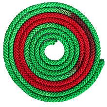 Скакалка для художественной гимнастики 3м 2-х цветная C-1657 (полиэстер, l-3м, d-мм, цвета в ассортименте)