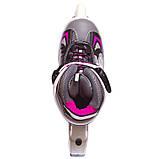 Роликовые коньки раздвижные Zelart Z-636 размер 32-39 цвета в ассортименте, фото 7
