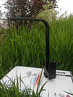 Смеситель для кухни чёрный из нержавейки Kub 011 Black, фото 1