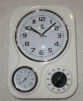 Настенные часы с таймером и термометром FUDA F66181RW