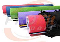 Коврик Yoga mat TPE+TC 6мм + ЧЕХОЛ двухслойный для йоги и фитнеса, йогамат, мат-каремат