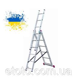 Трехсекционные лестницы алюминиевые