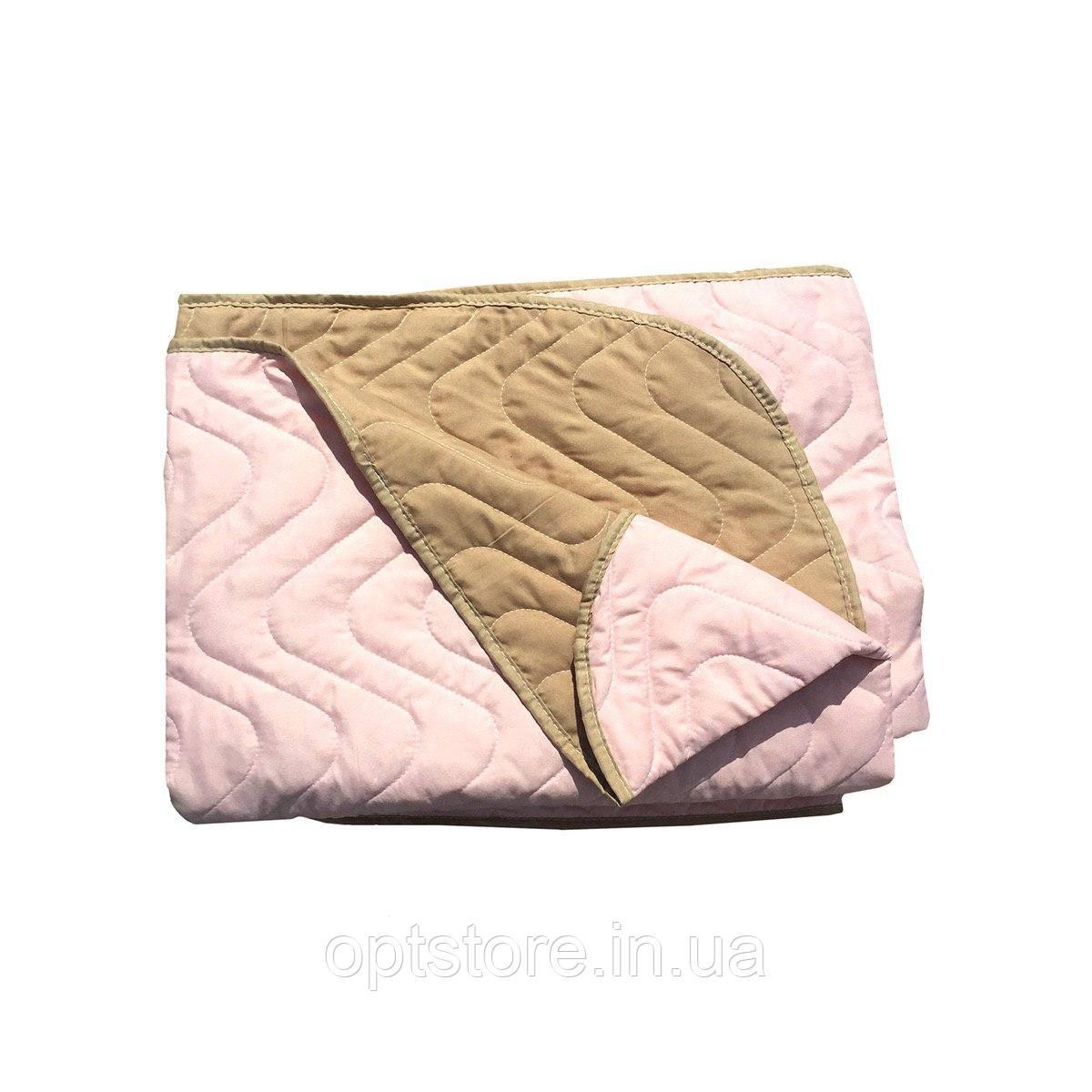 """""""Двухцветное"""" Летнее одеяло-покрывало полуторный размер 150/210 см наполнитель: холлофайбер. Ткань: бязь."""