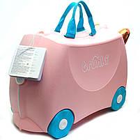 Детский чемодан Trunki для путешествий Flossi Flamingo (0353-GB01), фото 2