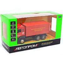 Машинка ігрова Автопром «Вантажні перевезення Автопром» Червона зі світловими і звуковими ефектами (50013), фото 2