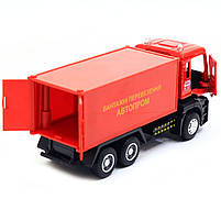 Машинка ігрова Автопром «Вантажні перевезення Автопром» Червона зі світловими і звуковими ефектами (50013), фото 5