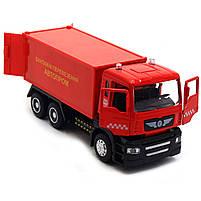 Машинка ігрова Автопром «Вантажні перевезення Автопром» Червона зі світловими і звуковими ефектами (50013), фото 6
