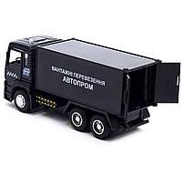 Машинка ігрова Автопром «Вантажні перевезення Автопром» Чорна зі світловими і звуковими ефектами (50013), фото 5