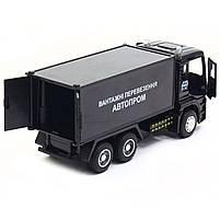 Машинка ігрова Автопром «Вантажні перевезення Автопром» Чорна зі світловими і звуковими ефектами (50013), фото 6