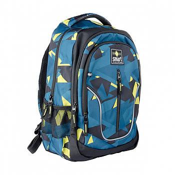 Повседневный молодежный рюкзак SMART TN-07 Global 44х31х14см Синий (558631)(5056137156917)