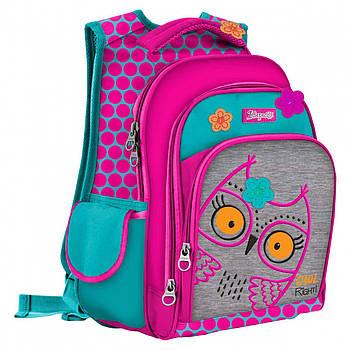 Школьный каркасный рюкзак для девочки 1Вересня S-43 Owl 39х29х16см Розовый (558220)(5056137180165)
