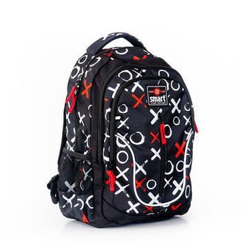 Повседневный молодежный рюкзак SMART TN-07 Global 44х31х14см Черный (558633)(5056137157068)