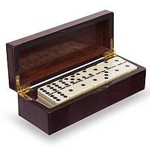 Домино настольная игра в MDF коробке 5010H-1 (кости-пласт, h-см,р-р кор. 20x7,5x6см)