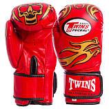 Перчатки боксерские DX на липучке TWINS MA-5435 (цвета в ассортименте), фото 4