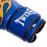 Перчатки боксерские DX на липучке TWINS MA-5435 (цвета в ассортименте), фото 8
