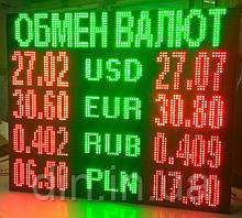 "Экран ""Обмен Валют"" - односторонний"