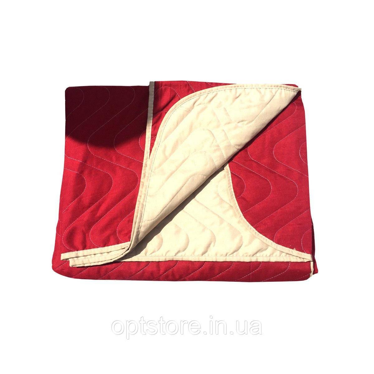 """""""Двокольорове"""" Літній ковдра-покривало євро розмір 200/210 см, наповнювач: холофайбер. Тканина: Бязь."""
