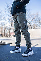 Молодежные штаны с карманами cargo (Летние) Olive (Олива), фото 1