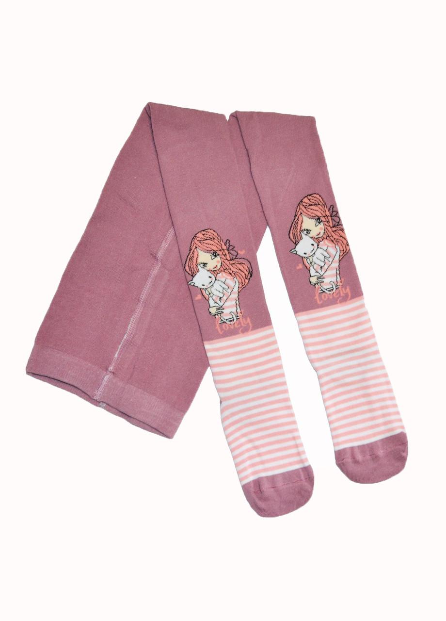 Колготки детям девочка с котиком розовые