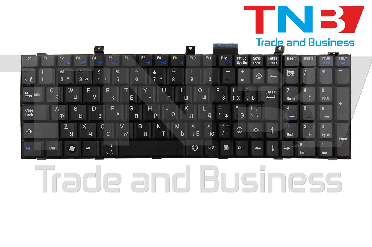 Клавиатура MSI MegaBook MS-163D EX600 EX620 EX630 EX700 ER710 CR500 CR600 CX500 CX600 VX600 черная RUUS