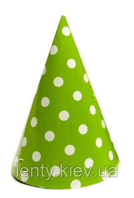 Колпачки,Горох салатовый праздничные карнавальные 16 см (1шт)-