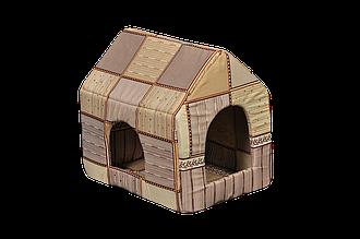 Домик-лежак для домашних животных Мур-Мяу Будочка Бежевый (hub_FSXb27765)