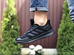 Мужские кроссовки Adidas (черные) 9409, фото 2